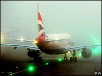BA plane at Heathrow airport