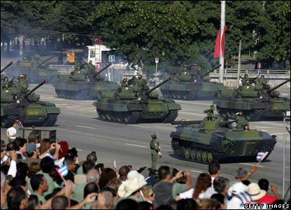 Tanks in Revolution Square