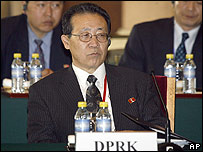 Top North Korean envoy Kim Kye-gwan at the talks in Beijing on 18 December 2006