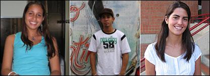 De izq. a der.: Zulyvic, 17; Luis, 17; y Marisela, 17.