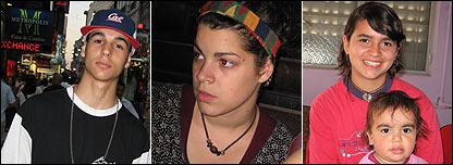 De izq. a der.: Pablo, 17; Agustina, 16; Denise, 15.