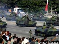 Tanks on parade