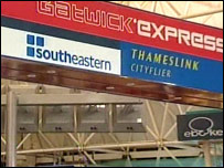 Gatwick Express signs