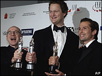 Actor Ulrich Muehe, director Florian Henckel von Donnersmarck and producer Qvirin Berg