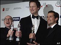 Actor Ulrich Muehe, director Florian Henckel von Donnersmarck and producer Qvirin Berg