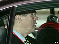 Christopher Hill leaves for last day of talks in Beijing on 22 December 2006