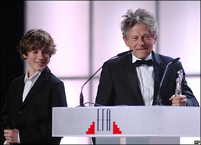 Barney Clark and Roman Polanski