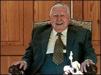 Gen Pinochet seen on 25 November at celebrations for his 91st birthday