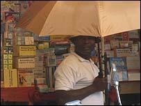 Medicine stall at Yaounde market
