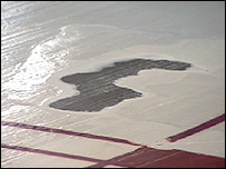 Patch of ice at the arena