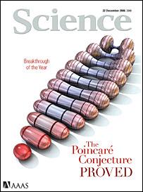 Tapa de revista Science.