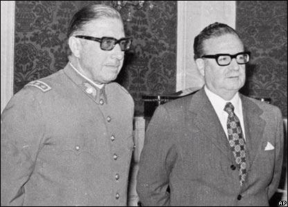 Augusto Pinochet y Salvador Allende