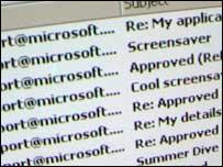 Palyh virus in e-mail inbox, BBC