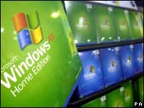 Windows XP on shop shelves, PA
