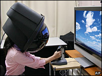 Toshiba prototype headgear
