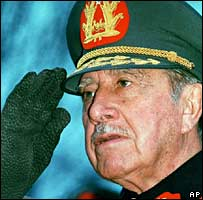 Gen Pinochet in a 1989 photo, a year before he left office