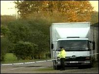 Police at Hintlesham
