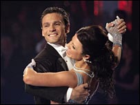 Mark Ramprakash and dance partner Karen Hardy