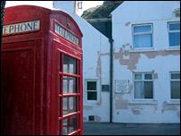 Pennan phone box and hotel