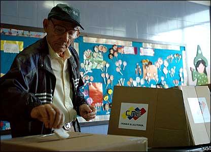 Man voting