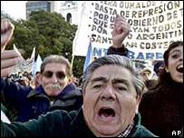 Protesta en Argentina por el Corralito