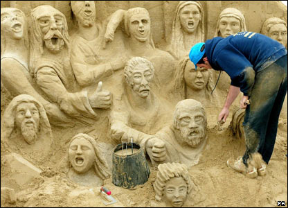 Sand sculpture in Brighton