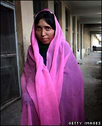 Nazgul, who tried to kill herself, at the burns unit in Herat