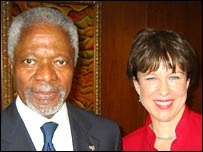 The BBC's Lyse Doucet interviews Kofi Annan in New York
