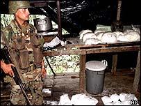 Incautación de cocaina en Colombia.