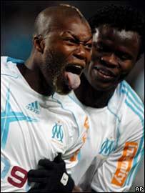 Djibril Cisse and Taiwo Ismaila