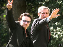 Bono and George W Bush