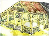 Artist's impression of visitor centre