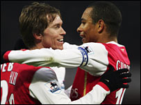 Alexander Hleb and Gilberto Silva