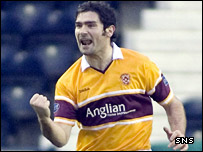 Jim Paterson celebrates his goal against Kilmarnock