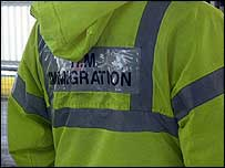 An immigration worker