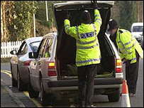 Road checks near Heathrow