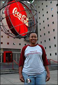 Illai Kenney at the World of Coke museum in Atlanta, Georgia, Nov 2006