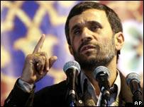 Iranian President Mahmoud Ahmadinejad, 24 December 2006