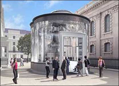Proposed new entrance pavilion to St Martin-in-the-Fields