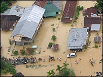 Flooded area in Aceh