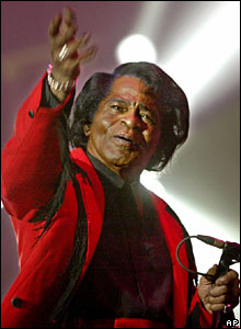 James Brown in action in Jakarta in 2005