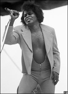 James Brown performing in 1972