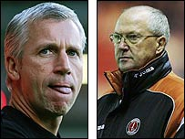 Alan Pardew (left) and Les Reed