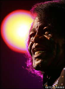 James brown in Scotland in 2000