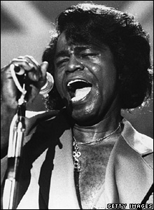 James Brown in concert in 1981
