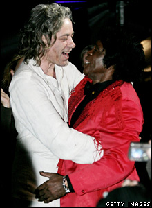 Bob Geldof and James Brown at Live 8