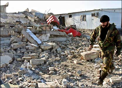 Wreckage of Jamiat police station