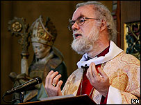 Rowan Williams at Canterbury