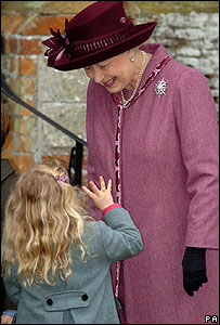 The Queen and her great niece, Margarita Armstrong-Jones