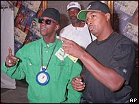 Flavor Flav and Chuck D of Public Enemy in 1994